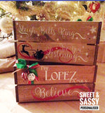SLEIGH BELLS CHRISTMAS CRATE (NAME IN CAPITALS)