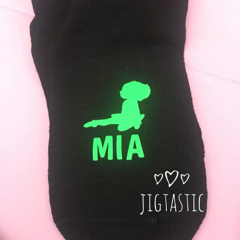 Personalised Irish Dance Socks for younger girls