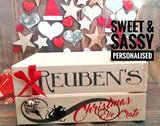 PERSONALISED CHRISTMAS EVE CRATE (White /Grey)