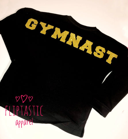 GYMNAST COLLEGE SLOGAN TOP
