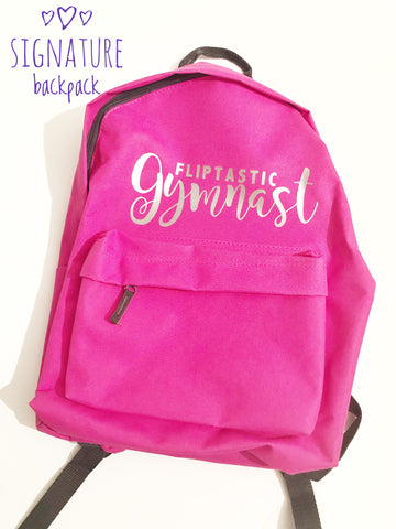 FLIPTASTIC GYMNAST PINK SIGNATURE BACKPACK
