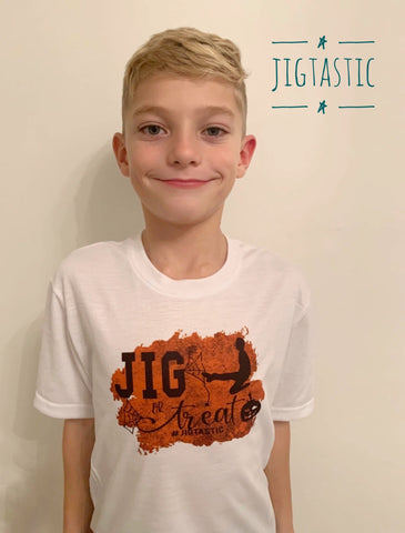 JIG OR TREAT BOYS HALLOWEEN T-SHIRT