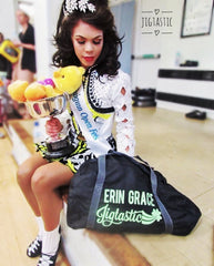 Champion Irish Dancer with her jigtastic holdall