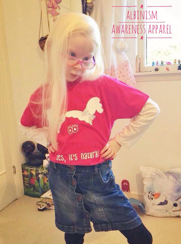 'Yes it's Natural' Albinism Awareness Girls T-Shirt