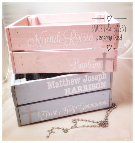 PERSONALISED HOLY COMMUNION CRATE