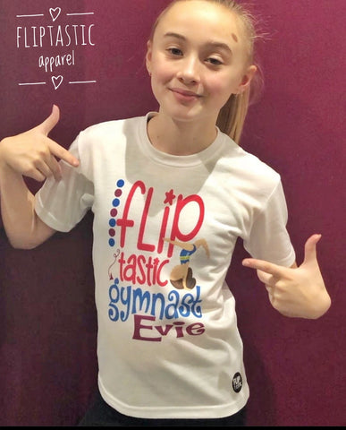 FLIPTASTIC GYMNAST GIRLS T SHIRT