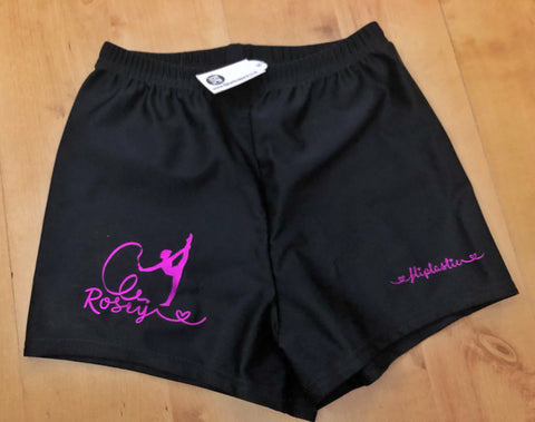 RHYTHMIC GYMNAST PERSONALISED SHORTS