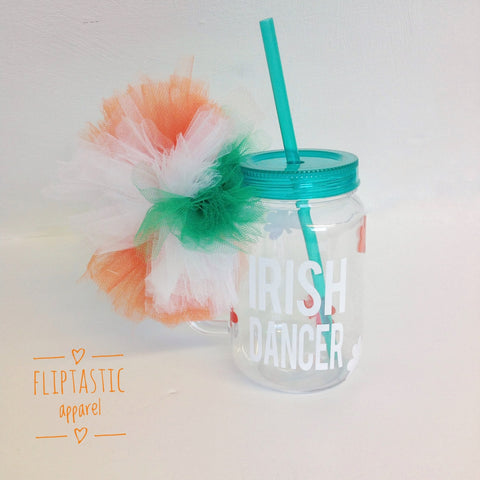 IRISH DANCE PLASTIC MASON JAR