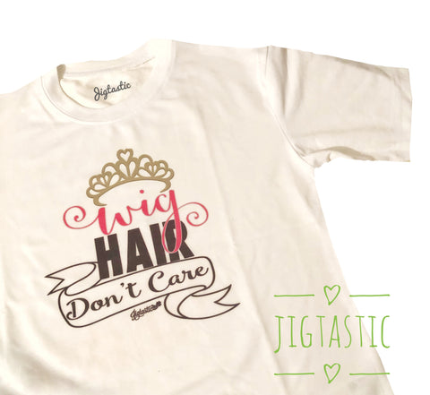 WIG HAIR IRISH DANCE T SHIRT