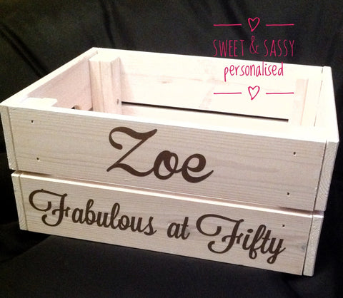 FABULOUS AT..... BIRTHDAY CRATES