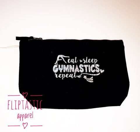 EAT SLEEP GYMNASTICS REPEAT ACCESSORY BAG