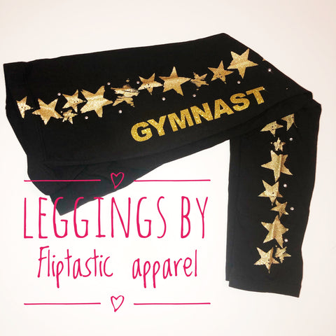 GYMNAST GOLD SPARKLY LEGGINGS