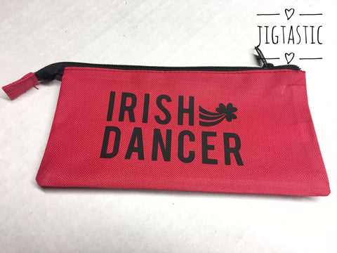 Irish Dancer Red Pencil Case - Ready to Ship