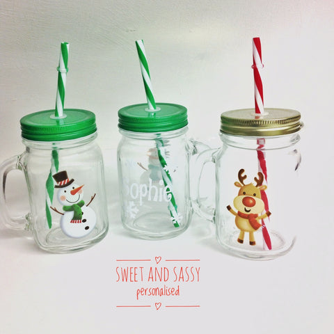 Personalised Christmas Mason Jars