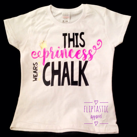 THIS PRINCESS WEARS CHALK WHITE T-SHIRT