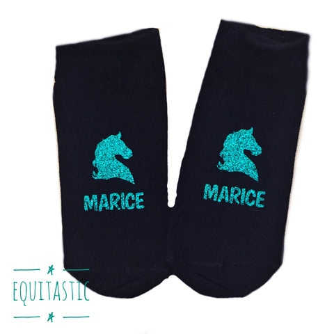 Personalised Girls Trainer Socks for Horse Riders