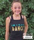 Irish Dance Glitter & Gold Vest