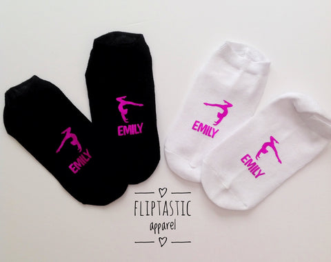 Personalised Gymnast Handstand Girls Trainer Socks