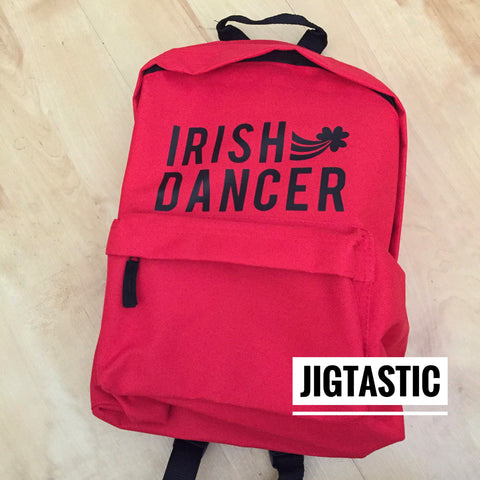 IRISH DANCER RED / BLACK BACKPACK (Ready to ship)
