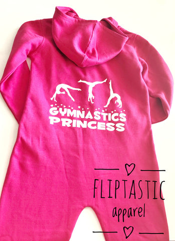 GYMNASTICS PRINCESS PINK ONESIE AGE 7-8 READY TO SHIP