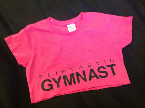 GYMNAST / DANCER CROPPED T-SHIRT