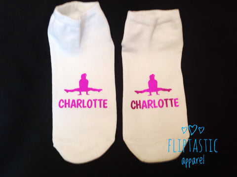 Personalised Straddle Gymnast Trainer Socks