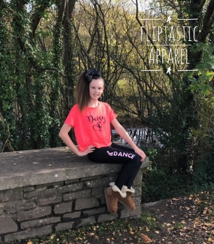 PERSONALISED DANCE CROPPED T-SHIRT