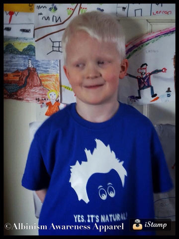 'Yes it's Natural' Albinism Awareness Boys T-Shirt