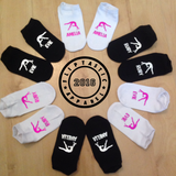 Personalised 'Flipping' Gymnast or Cheer Girls Trainer Socks