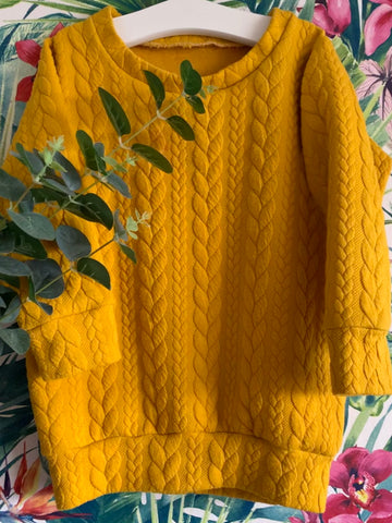 OH SO OCHRE TUNIC JUMPER