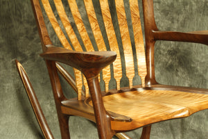 Quilted Maple Sculpted Rocking Chair