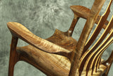 Walnut and Curly Maple Sculpted Rocking Chair