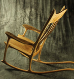 Curly Maple Sculpted Rocking Chair