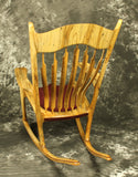 Spalted Maple and Purpleheart Sculpted Rocking Chair