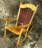 Spalted Maple Sculpted Rocking Chair with Purpleheart Accents