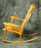 Cherry Sculpted Rocking Chair