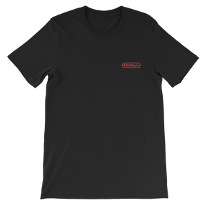 Red Nihilism Embroidered Logo Tee