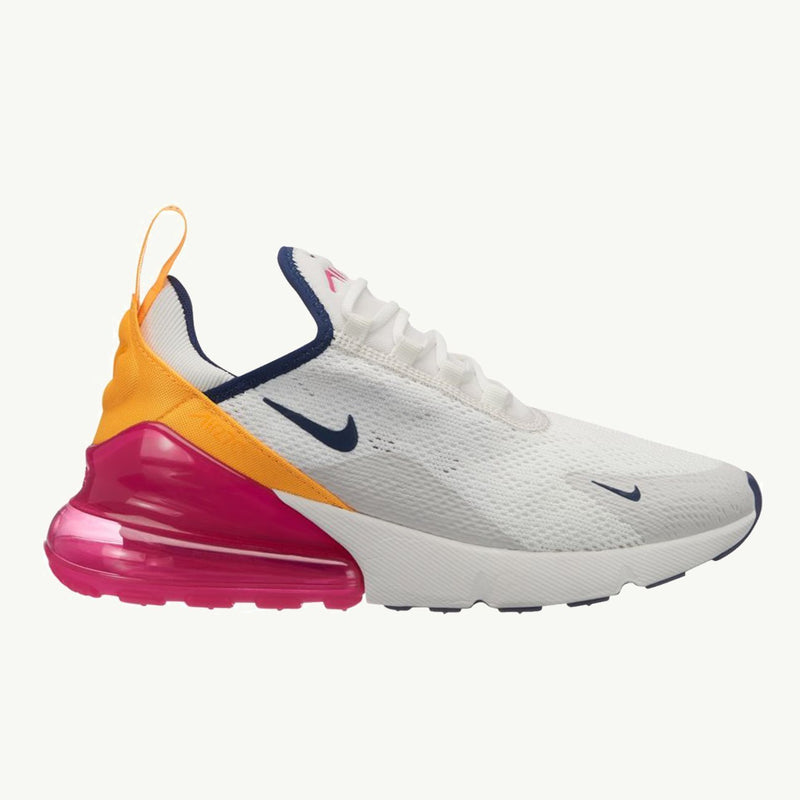 best website ab4fb 91be2 NIKE W AIR MAX 270 SUMMIT WHITE NAVY LASER   Area 51