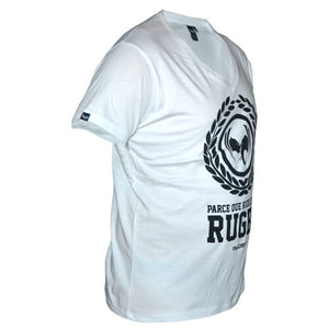 tee shirt rugby anto blanc col v