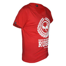 tee shirt rugby anto rouge col v