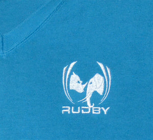 Pull col rugbywear by Rudby broderie