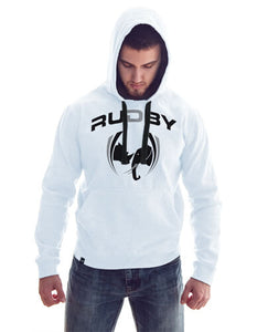 Sweat capuche rudby blanc
