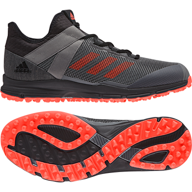 Adidas Zone Dox 1.9S 2019 Speed Black/Red/Grey Hockey Shoes