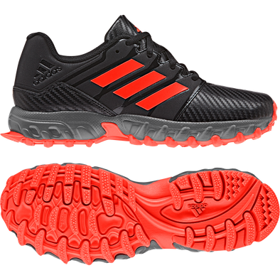 Adidas Junior Speed 2019 Black/Red/Grey Hockey Shoes