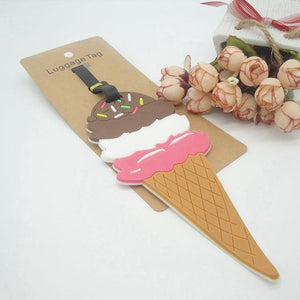 Ice Cream Luggage Tag - Backpacking Travel Gear