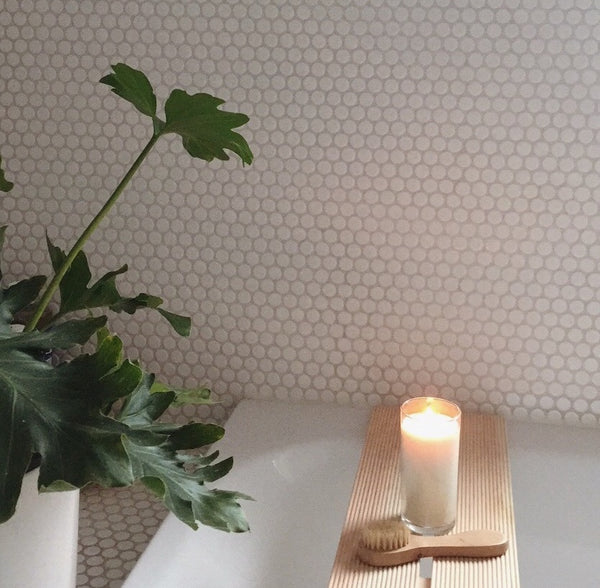 Solare signature candle in Alice Fox's home