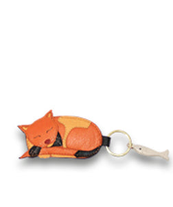 Dreaming Cat Key Fob