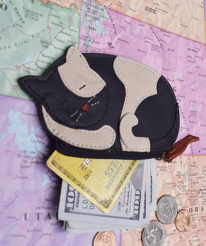 Sleepy Cat Coin Purse
