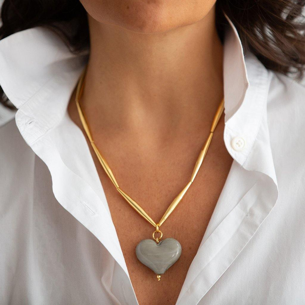 Helia Cuore Necklace In Gold - Tohum Design