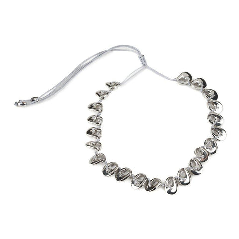 LARGE PUKA SHELL NECKLACE IN SILVER WITH NATURAL SHELL
